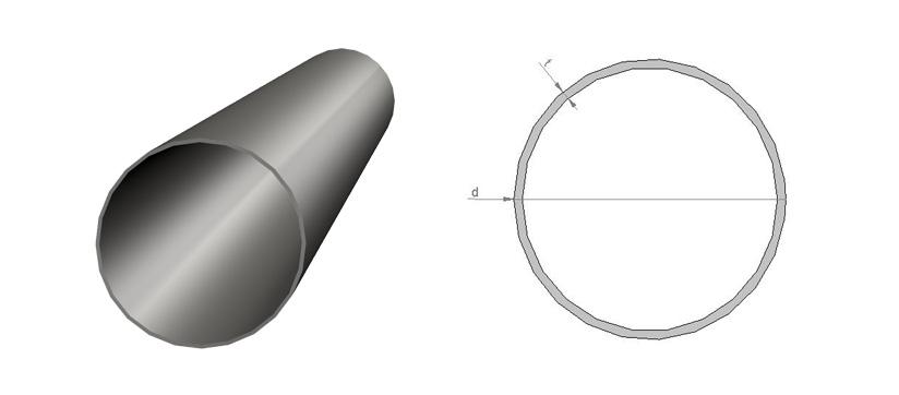 Putkipalkki-pyöreä
