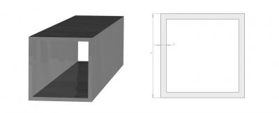 Huonekaluputki neliö